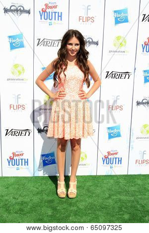 LOS ANGELES - JUL 27:  Ryan Newman at the Variety's Power of Youth  at Universal Studios Backlot on July 27, 2013 in Los Angeles, CA