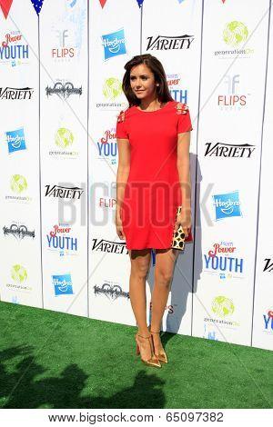 LOS ANGELES - JUL 27:  Nina Dobrev at the Variety's Power of Youth  at Universal Studios Backlot on July 27, 2013 in Los Angeles, CA