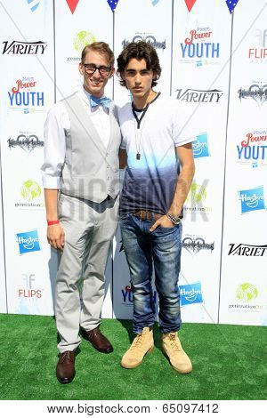 LOS ANGELES - JUL 27:  Zack Michael, Blake Michael at the Variety's Power of Youth  at Universal Studios Backlot on July 27, 2013 in Los Angeles, CA
