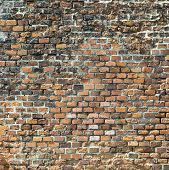 harmonic old historic red brick wall background poster