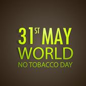 Poster, banner or flyer design for World No Tobacco Day with golden text on brown background. poster