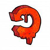 cartoon melting arrow symbol poster