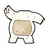 cartoon polar bear body (mix and match or add own photos) poster