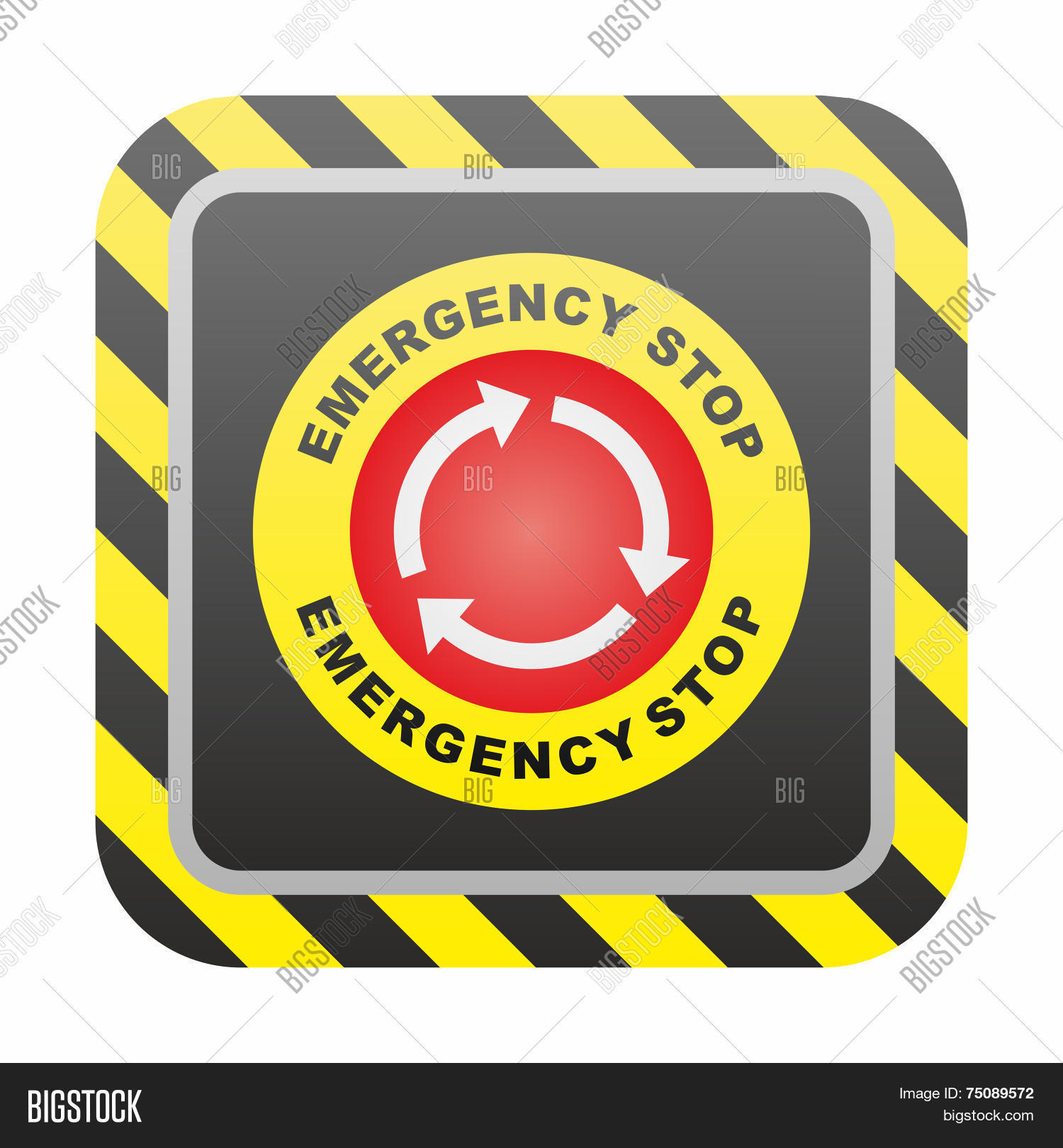 Emergency Stop Button Vector & Photo (Free Trial)   Bigstock