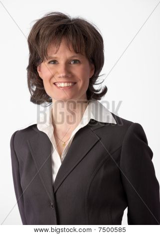 Beautiful And Happy Businesswoman