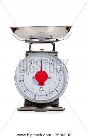 Empty Food Scale On A White Background