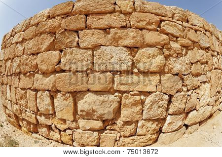 Convex ancient stone wall texture