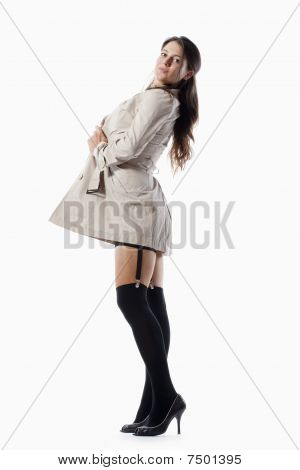 Woman In Trenchcoat