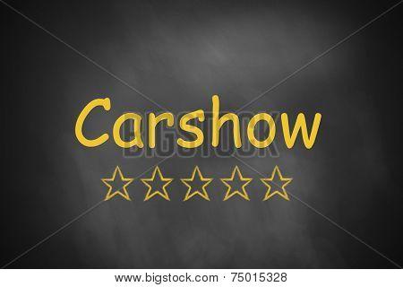 carshow written on black chalkboard