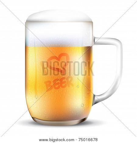 Dewy Glass Of Beer - I Love Beer