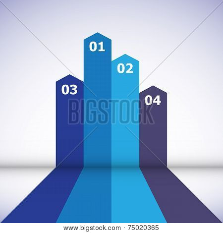 Abstract Design Element With Blue Lines