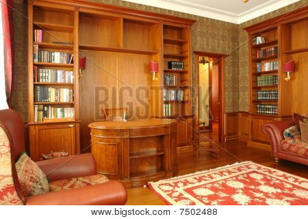 interior of office room at home