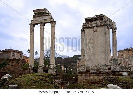 Foro Romano, Tempio Dei Dioscuri In Rome