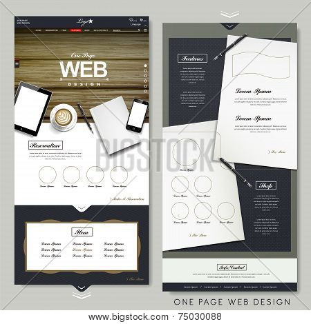 Office Scene One Page Website Design Template