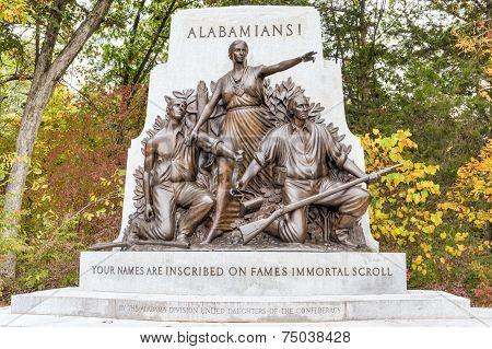 Alabama Memorial Monument, Gettysburg, Pa