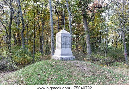 John Fulton Reynolds Memorial monument at the Gettysburg National Military Park Pennsylvania. poster