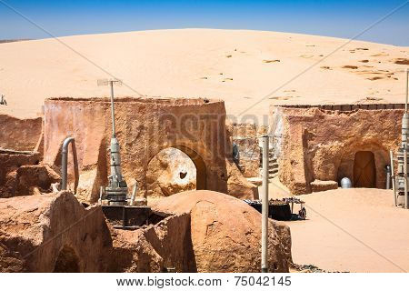 Nefta,Tunisia,August 15,2013:Buildings In Ong Jemel, Ong Jemel Is A Place