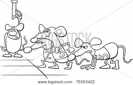 Rat Race Cartoon Coloring Book