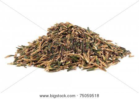 Lotus plumule  seed used in chinese herbal medicine over white background. Lian zi xin. Nelumbo nucifera. poster