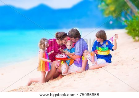 Birthday Party At A Beach