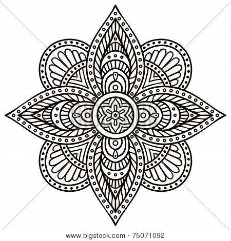 Mandala. Round Ornament Pattern