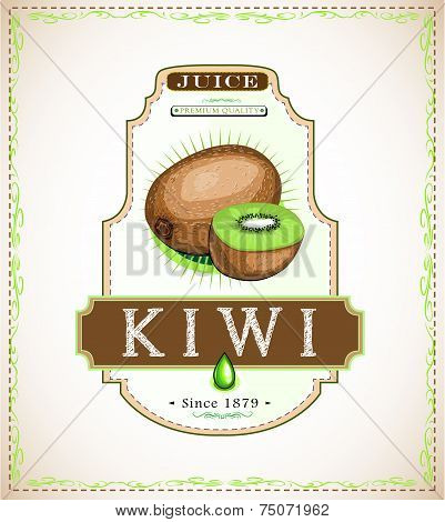 Kiwi product label
