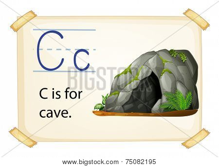 Illustration of c for cave