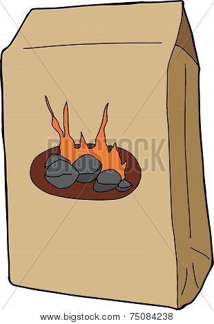 Isolated Charcoal Bag