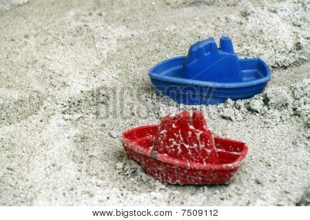 Ships in the sandbox.