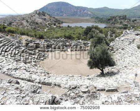 Roman amphitheater in the ancient Caunos.