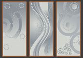 Three banners with the gray tint. Backgrounds.Banner. poster