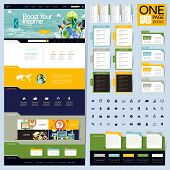 creative folder style one page website design template poster