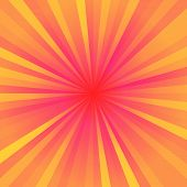 Yellow, red and orange color regular rays poster