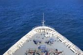 Ship / Forward direction of movement / blue sea poster