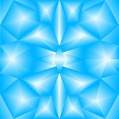 The abstract random triangular blue gradient background poster