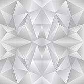 The abstract random triangular gray gradient background poster