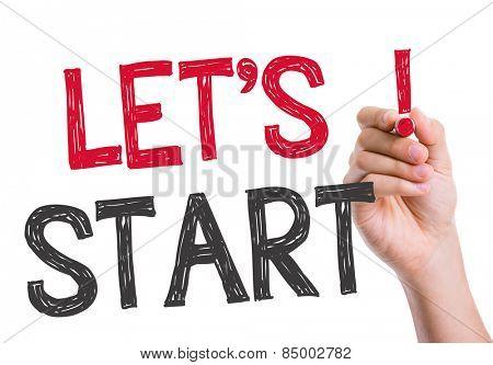 Let's Start written on the wipe board