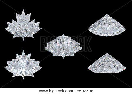 Differnet Views Of Maple Leaf Diamond