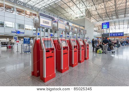 Self Checkin Machines at the airport