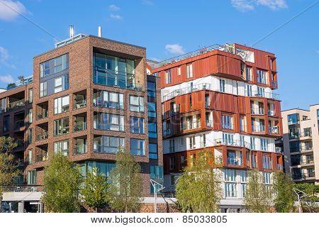 New apartment houses in Hamburg