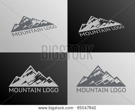Mountain Logo Symbol Icon Isolated Vector Illustration