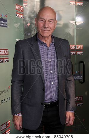 LOS ANGELES - FEB 20:  Patrick Stewart at the GREAT British Film Reception Honoring The British Nominees Of The 87th Annual Academy Awards at a London Hotel on February 20, 2015 in West Hollywood, CA