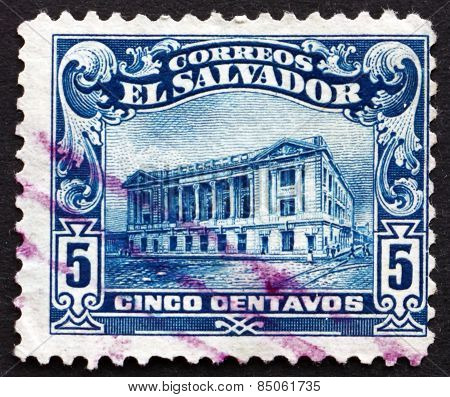 Postage Stamp El Salvador 1916 National Theater