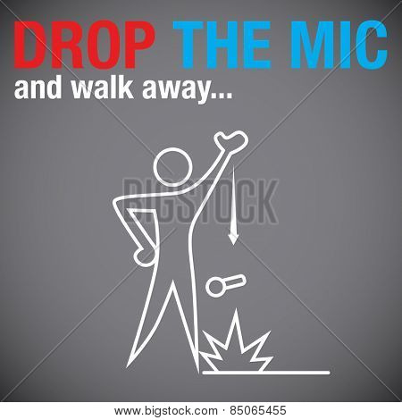 An image of a person dropping the microphone.