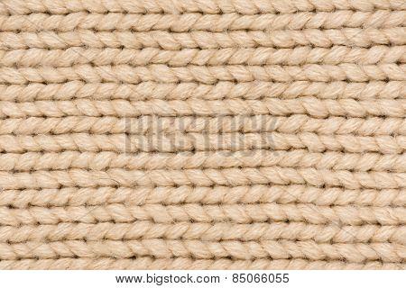 light brown knitted wool  macro photo