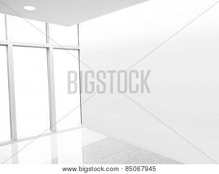 Blank wall in empty room