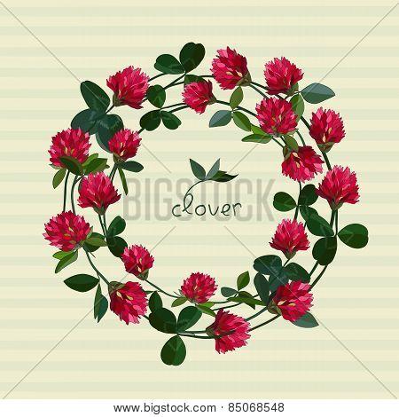 Vector floral card