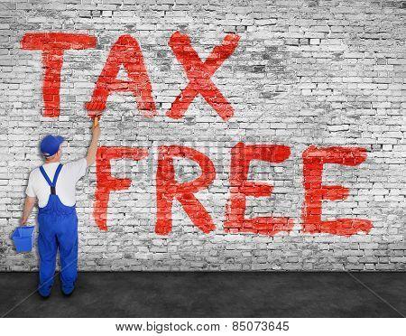 House Painter Paints Tax Free Inscription