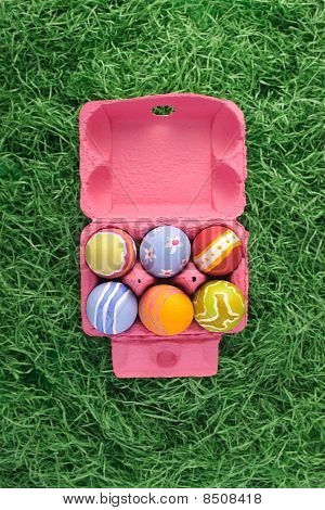 Easter egg in a box