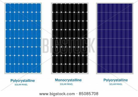Solar Panel, green energy and renewable concept